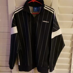 Adidas sports/casual pinstripe jacket in blue and